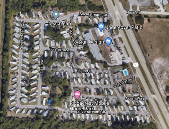 A fire in a mobile home park outside Fort Pierce forced four adults and one child from a home, prompting a local American Red Cross to send volunteers to help, a fire official said.