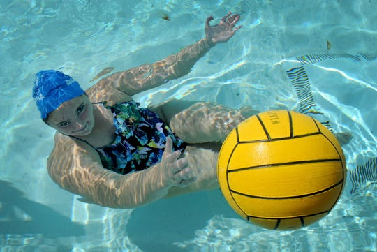 """Maddie DeMattia was a leader in and out of pool during her standout career at Agoura High. """"She has shown leadership and helped mold the younger players. While she lives to win and has the will to win, she also prides herself on helping her teammates get better,"""" says Agoura coach Jason Rosenthal."""
