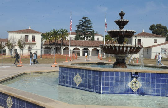 Visitors to CSU Channel Islands for commencement in May will see a spruced-up campus with a remade central mall. Work is already underway.