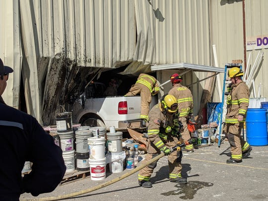 A Visalia ReStore customer crashed his pickup into the store's warehouse, destroying a large portion of one exterior wall and numerous items inside on Tuesday, March 3, 2020.