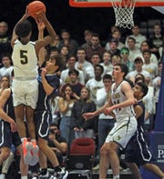 Hastings defeats Westlake 57-52 during Boys basketball Class B semifinal at the County Center in White Plains March 4, 2020.