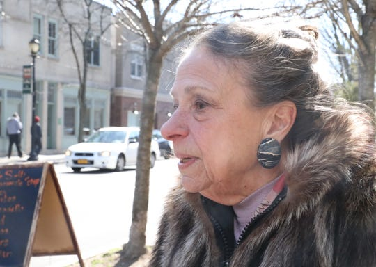 Jane Metzger of Ardsley who works in the medical field talks about the coronavirus in Hastings March 5, 2020. Hastings school are closed Thursday and Friday because of the coronavirus.