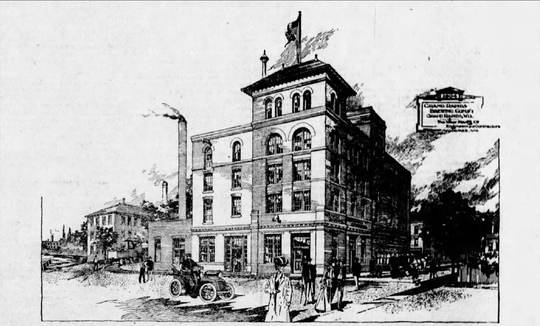 The Grand Rapids Brewing Company opened October 1, 1904, replacing the Lutz Brewery after a fire in 1894.