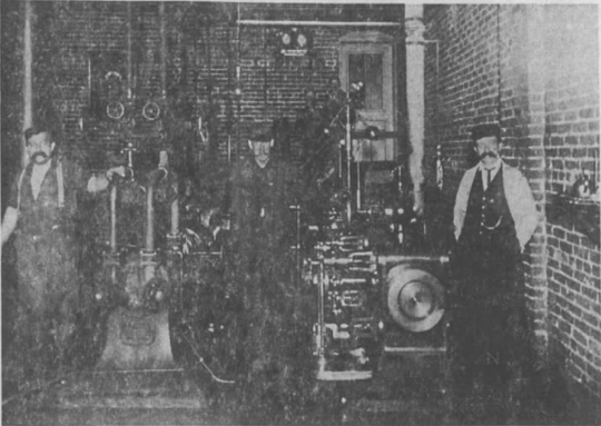 A steam system in the Grand Rapids Brewing Company in the early 1900s.