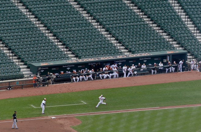 The Baltimore Orioles and Chicago White Sox played before a stadium of empty seats in 2015.