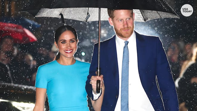 Soon-to-exit Prince Harry and Duchess Meghan return to London for awards gala on March 5, 2020.