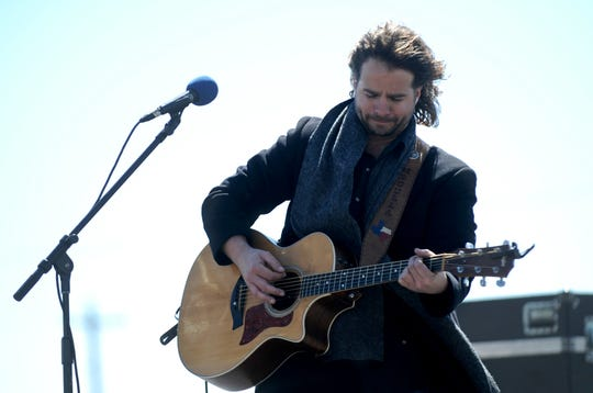 Jerrod Medulla performs at the first Outlaws & Legends music event at Joe Allen's Lytle Bend Ranch on March 5, 2011. He has performed in the eight shows since then, and will play at 11:45 a.m. Saturday this year.