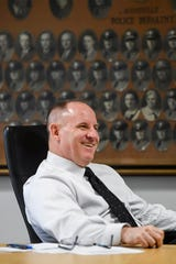 David Zack talks with the Citizen Times February 26, 2020 in Asheville. He is Asheville Police Department's fifth chief since 2010.