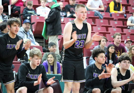 North Kitsap's bench applauds during the second half of Thursday's game against White River.