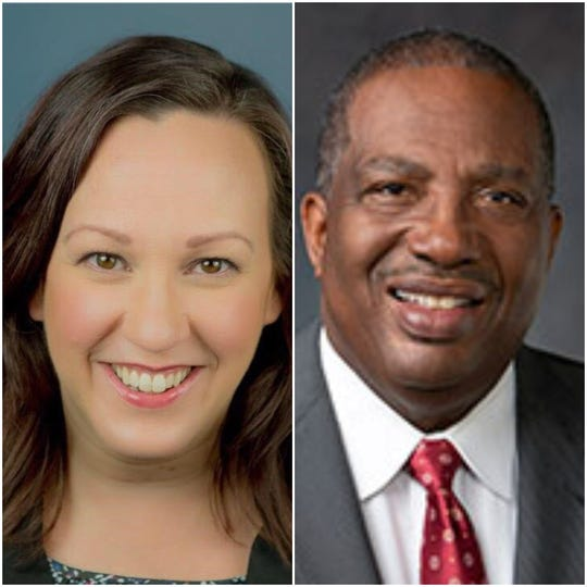 MJ Hegar, left, and Royce West