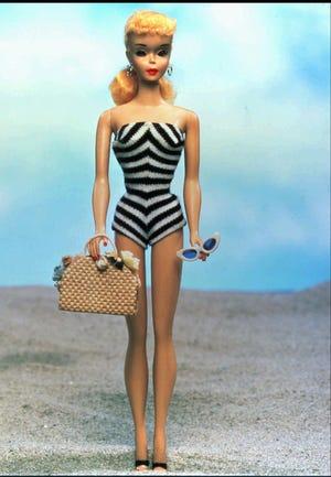 The original 1959 Barbie doll.