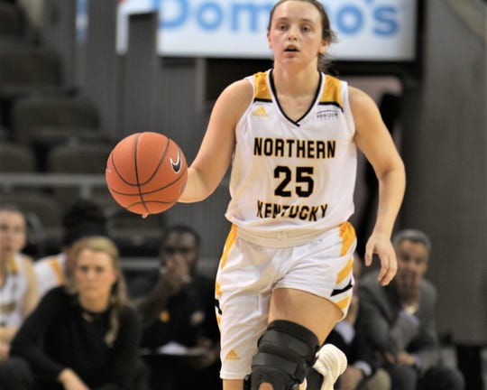 NKU sophomore Ally Niece as Northern Kentucky University women's basketball team defeated Milwaukee 78-58 in the quarterfinals of the Horizon League Tournament March 5, 2020 at BB&T Arena, Highland Heights, Ky.