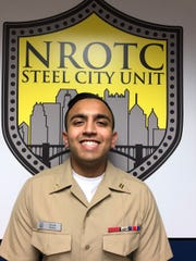 Navy Midshipman Sajan Patel, from South Brunswick, participated in the 2020 spring Naval Reserve Officer Training Corps ship selection draft as a future member of the Surface Warfare Officer community.