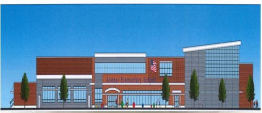 A rendering of the new Avenel Elementary School in the Avenel section of Woodbridge.