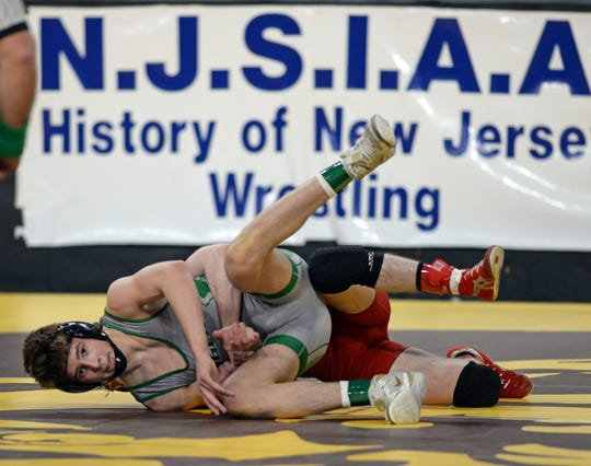 South Plainfield's Anthony White wins the 132 lb. pre-quarterfinal bout during the NJSIAA state individual wrestling tournament at Boardwalk Hall in Atlantic City on Thursday, March 5, 2020.