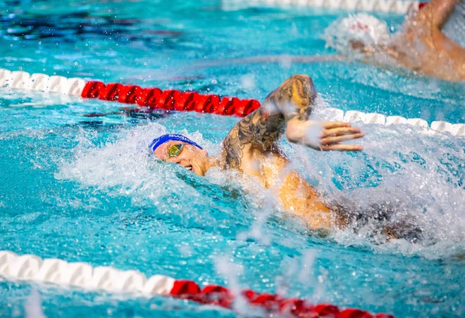 Caeleb Dressel swims the men's 200-meter freestyle in March, one week before the coronavirus pandemic halted most international competition. Dressel is competing this fall in the International Swimming League, in preparation for the 2021 Olympics.
