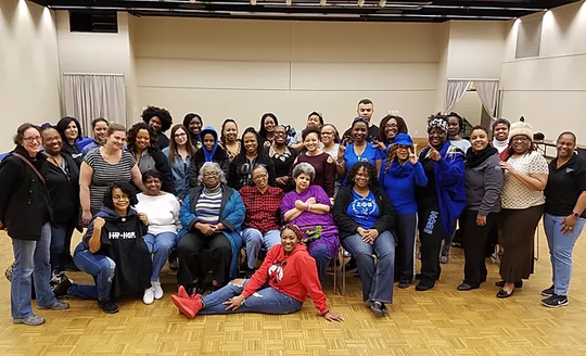 """Attendees at the 2018  """"Many Shades Of Colour"""" young women's conference at Drake University."""
