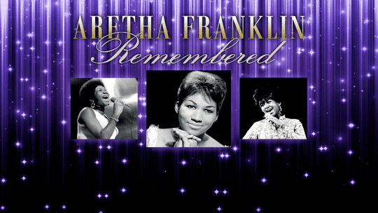 """Promotional image for """"Aretha Franklin Remembered,"""" a PBS special featuring historical concert footage and interviews."""