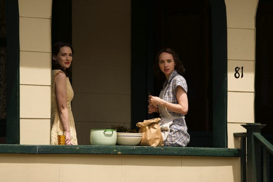 "Winona Ryder, left, and Zoe Kazan in a scene from ""The Plot Against America,"" which debuted March 16."