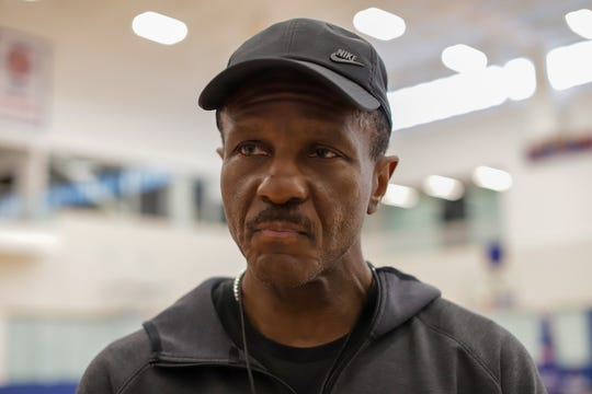Detroit Pistons' Head Coach Dwane Casey is photographed after practice at the Henry Ford Detroit Pistons' Performance Center in New Center Detroit on Thursday, March 5, 2020.