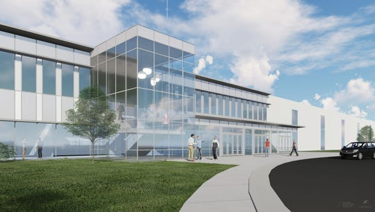Rendering of the lobby of FCA's future engine plant in Kokomo, Indiana.