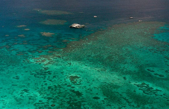 Agincourt Reef, located about 30 miles off the coast near the northern reaches of the 1,200-mile long Great Barrier Reef, Sept. 10, 2001.