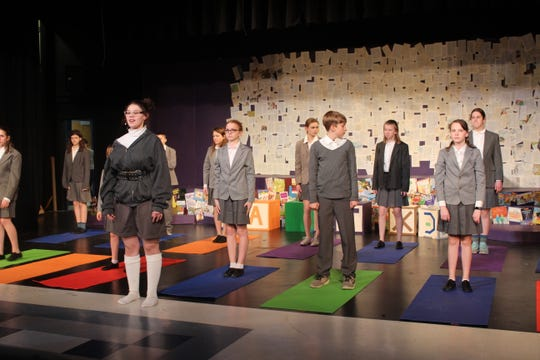 Winnebago Lutheran Academy students rehearse a production of 'Matilda,' set to open March 12.