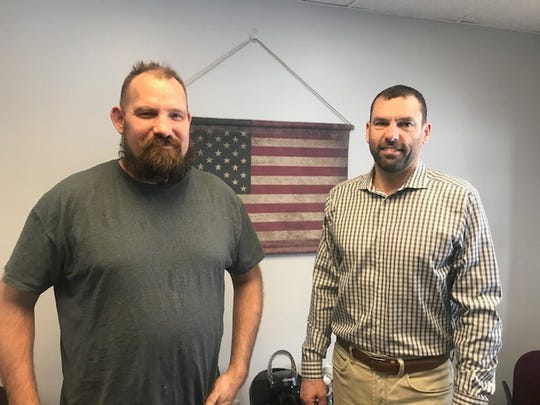 Joe Fisher, left and Scott Lang, right, of Cutting Edge Manufacturing.