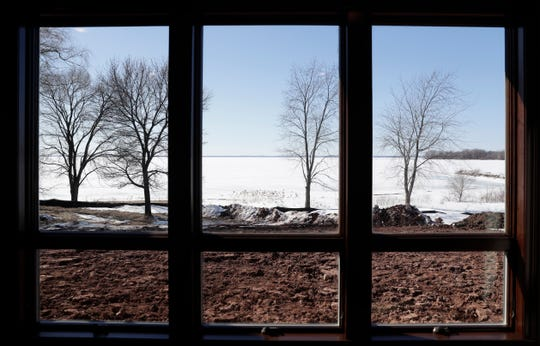 """The view of Green Bay from the sun room of a newly built house on Nicolet Drive in Green Bay that is wheelchair accessible and includes """"universal design"""" amenities will be featured in the Brown County Homebuilders' spring showcase of homes."""