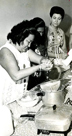 In the 1970s, home economist Lorraine M. Aguon would take her cooking show on the road to demonstrate local dish preparation. She said newcomers to Guam were most interested in red rice and kelaguen, while local cooks wanted new recipes for pies, cookies and other desserts.