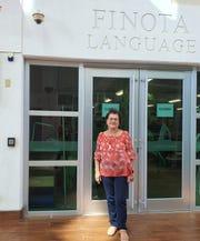 Kumisión i Fino' CHamoru yan i Fina'nå'guen i Historia yan i Lina'la' i Taotao Tåno', Commission on CHamoru Language and the Teaching of the History and Culture of the Indigenous People of Guam Chairwoman Hope Cristobal at the Guam Museum on March 4, 2020.