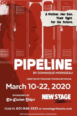 "New Stage Theatre's ""Pipeline"" flyer"