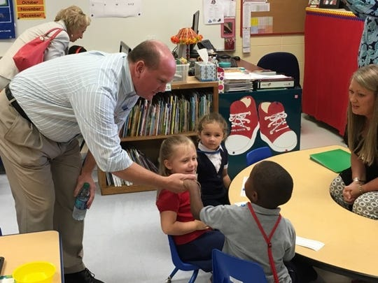 Mississippi State Sen. Brice Wiggins, R-Pascagoula, visits an Early Learning Center in Mississippi.