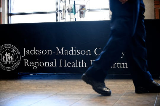 Madison County Health Department officials held a meeting with local leaders Friday, March 6, 2020, at Jackson-Madison County Regional Health Department to inform the community of the county's coronavirus plan after the first case was detected in Tennessee.