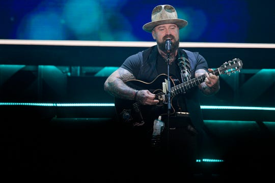 The Zac Brown Band performs at Thompson-Boling Arena in Knoxville, Tenn. on Thursday, March 5, 2020.