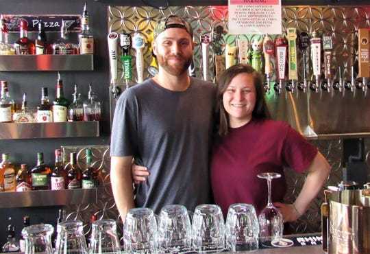 """A brother and sister team, Gabe and Jennifer Sexton handle operations at Mind Yer P's & Q's. """"We're really looking forward to getting the final touches done,"""" Gabe said."""