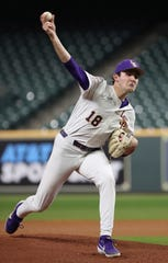 LSU sophomore pitcher Cole Henry was 4-2 with a 3.39 ERA as a freshman in 2019 around injuries and was 2-1 with a 1.89 ERA in the COVID-19-shortened 2020 season. The Washington Nationals picked him in the 2nd round of the Major League Draft Thursday at No. 55 overall.