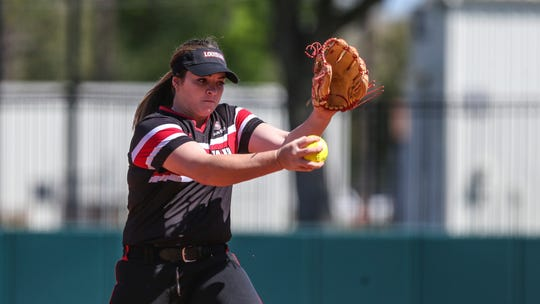 UL pitcher Summer Ellyson, who plans to return in 2021, works during a game against Florida last February in Gainesville.