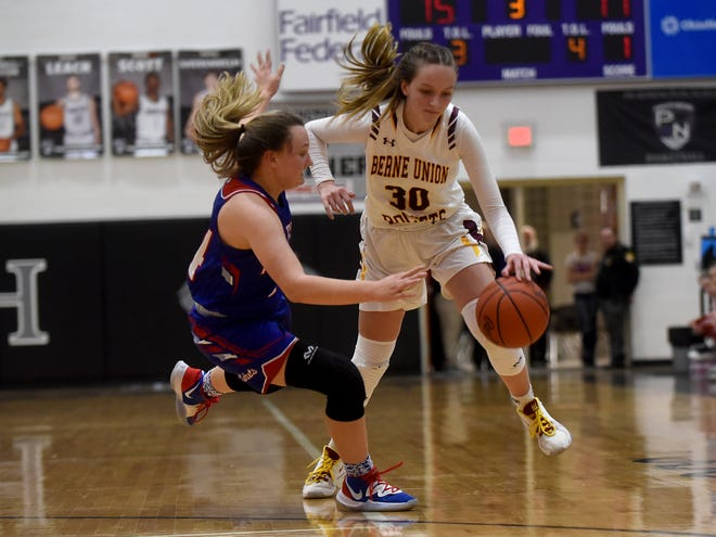 Berne Union junior Bella Kline was named Division IV first team All-Ohio on Monday. Kline averaged 19 points per game and helped lead the Rockets to conference and district championships.