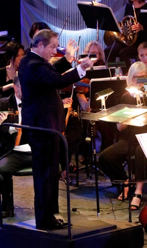 Lancaster Festival Orchestra conductor Gary Sheldon leads the orchestra during a performance at Fairfield Christian Church in this Eagle-Gazette file photo. This year's festival will run from July 24 to July 31 with no indoor events planned because of the COVID-19 pandemic.