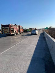 Scene of a crash on Interstate 43 in Manitowoc County March 6.