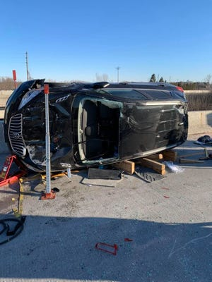 Scene of a crash on Interstate 43 in Manitowoc County on March 6.