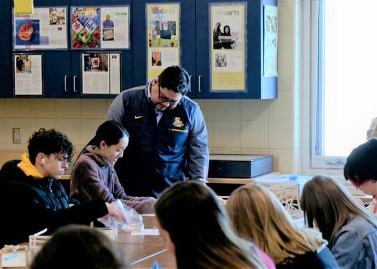 Frank Juarez in the classroom in Sheboygan.