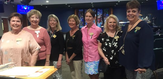 P.E.O. Chapter GT on Marco Island elected their officers for the coming year on March 6. From left, Mary Stillwell, president; Jan Drummond, vice president; Deb Orr, treasurer; Julie Riley, recording secretary; Wendy Nolan, corresponding secretary; Ireland Rice, chaplain; and Marian Harris, guard.