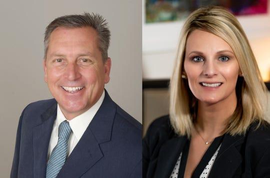 Kent Attwell, left, is running against Sandra Felker for mayor in the city of Delafield.
