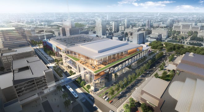 The expanded Wisconsin Center would include a second ballroom with a rooftop terrace.