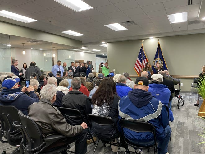 The front lobby of Muncie's new VA clinic was packed as more than 100 veterans and community members gathered at the open house on Friday, March 6.