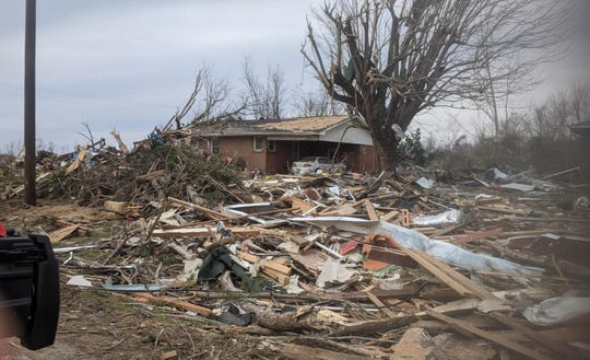 Images from Putnam County in areas hit hard by the tornado during the search process.