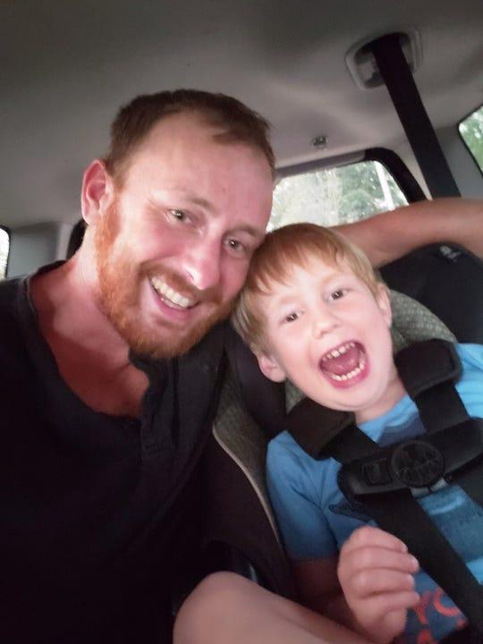 Thomas Marsh and his son, Harlan Marsh, age 5.