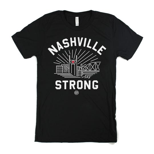 """Project 615's""""Nashville Strong""""campaign tee, taking a cue from the #NashvilleStrong hashtag that was prevalent in response to the 2010 flood and in the wake of thetornado,was designed as a benefit for storm victims."""